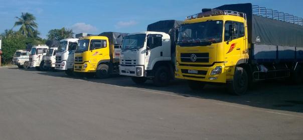 Chành xe vận chuyển hàng hóa tại TP HCM